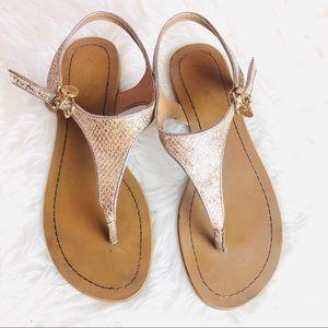 Aldo gold glitter sandals
